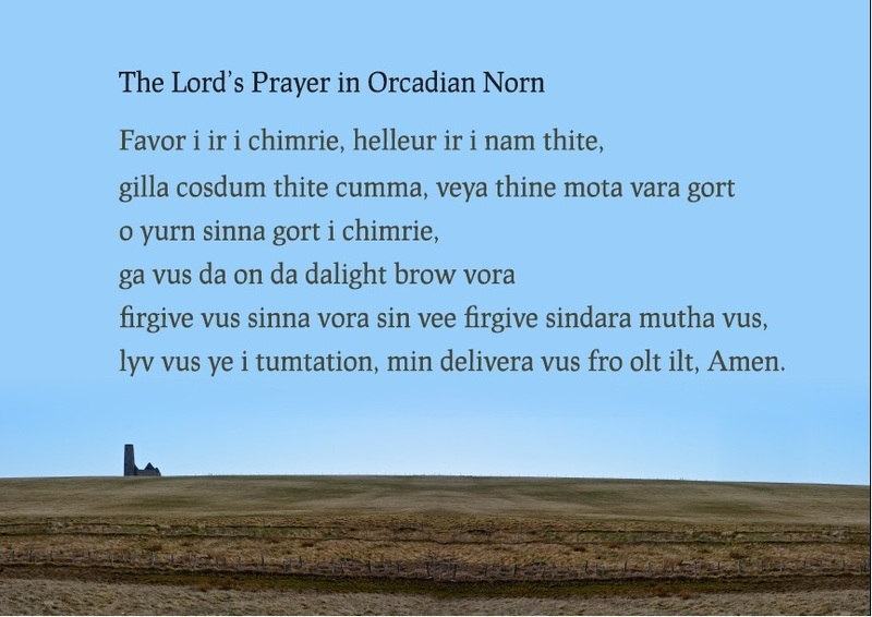The Lord's Prayer in Orcadian Norn (poster)