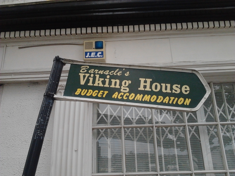 Signage for Viking House Hostel in Waterford