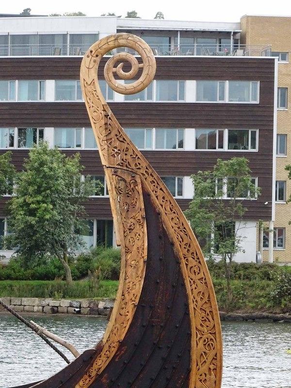Detail of the Stem and Stern of Saga Oseberg