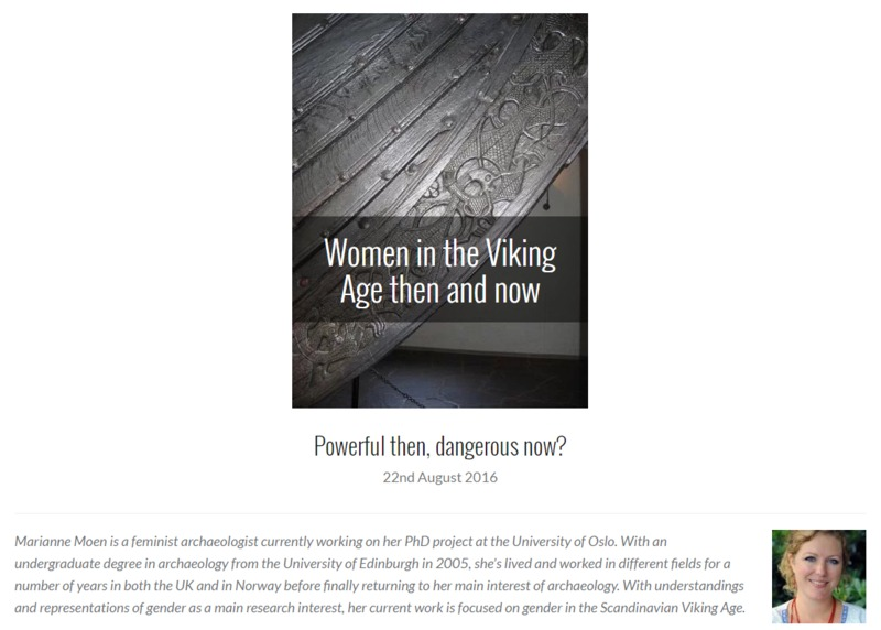 Blog: Women in the Viking Age then and now: Powerful then, dangerous now?