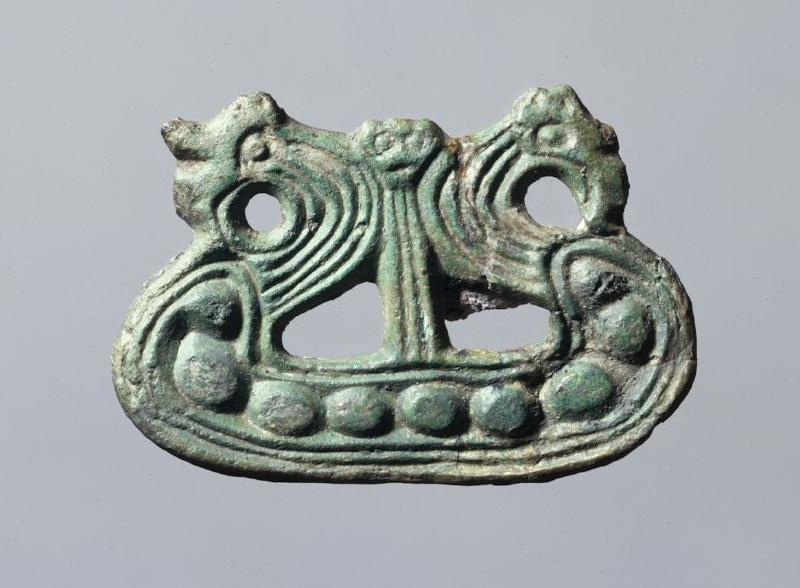 Viking-Age ship brooch in Nationalmuseet, Danmark