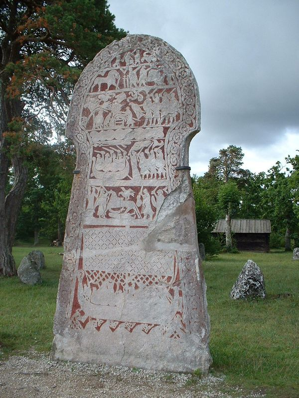 The Stora Hammars I image stone