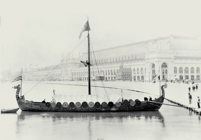 The Reconstructed Viking Ship 'Viking' at the World's Columbian Exposition in Chicago