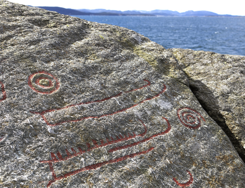 Bronze-Age rock carvings of ships from Solbakk, Norway