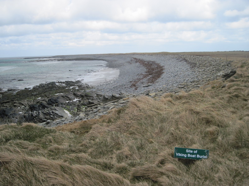 Site of Viking Age boat burial at Scar, Sanday, Orkney