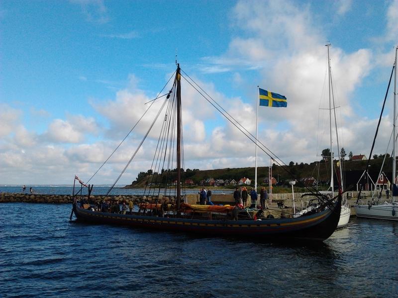 The reconstructed Viking ship 'Sea Stallion' at Höganäs