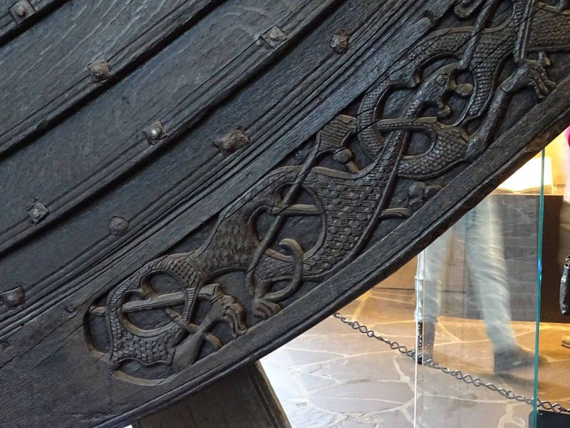Detail of the Stern Ornament on the Oseberg Ship