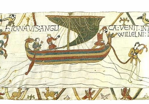 Ships depicted on the Bayeux Tapestry