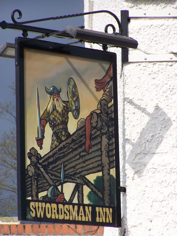 Swordsman Inn sign, Stamford Bridge