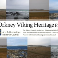 Poster advertising the Orkney Viking Heritage Project