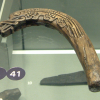 Carved Wooden Handle in the National Museum of Ireland