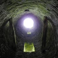 View inside the Round Tower of St Magnus Church, Egilsay