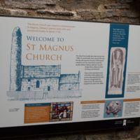 Information Board outside St Magnus Church, Orkney