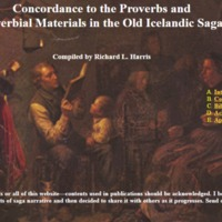 Concordance to the Proverbs and Proverbial Materials in the Old Icelandic Sagas