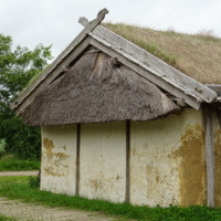 Reconstructed Danish Townhouses from c. 825 at Ribe VikingCenter