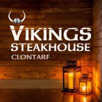 Promotional material for Vikings Steakhouse in Clontarf
