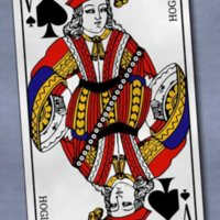 Reference to Hogier (Holger the Dane) on French Playing Card