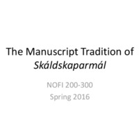 The Manuscript Tradition of Skáldskaparmál.pdf