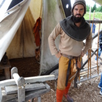 Re-enactor at Ribe VikingCenter