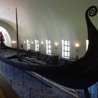 The Oseberg Ship viewed from the stern