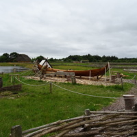 Boat construction at Ribe VikingCenter