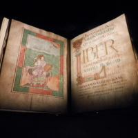 Photo of the York Gospels Manuscript
