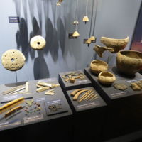 Artefacts in the Viking Museum, Aarhus, Denmark