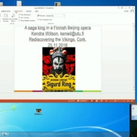 "Conference Presentation: Kendra Wilson, ""Saga Style in a Finnish Beijing Opera"""