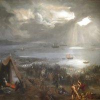 'Battle_of_Clontarf',_oil_on_canvas_painting_by_Hugh_Frazer,_1826.jpg
