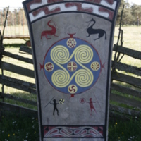 Replica of Vallstena picture stone