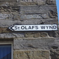 Photo of St Olaf's Wynd Street Sign in Orkney