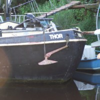 Thor Boat on River Ouse, York