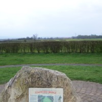 Battle of Stamford Bridge fields & memorial stone