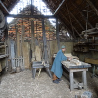 Woodworking at Ribe VikingCenter