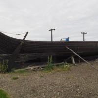 Viking replica boat, Unst, Shetland