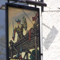 Swordsman Inn sign, Stamford Bridge